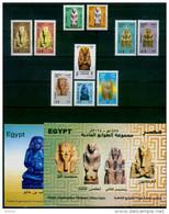 EGYPT / 2010-2015 / THE CURRENT REGULAR SET TO DATE + OFFICIAL BULLETINS / ARCHEOLOGY / EGYPT ANTIQUITY / MNH / VF - Egipto