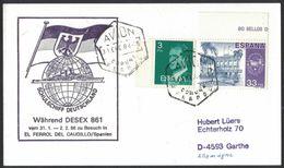 N72  Spain Card 1986 El Ferrol Del Caudillo  To Germany - 1931-Hoy: 2ª República - ... Juan Carlos I