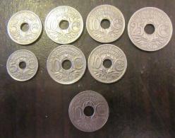 Lot De 8 Monnaies Type Lindauer (2x5 Cts, 5x10 Cts, 1x25 Cts ) Détails Dans La Description - TTB à SUP - Bonnes Années - France