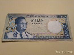 1000 Francs 1964 - Congo