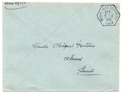 CHER - Dépt N° 18 = NEUVY DEUX CLOCHERS 1961 = CACHET MANUEL HEXAGONAL Pointillé F7 = Agence Postale - Bolli Manuali