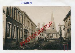 STADEN-CARTE PHOTO Allemande-Guerre 14-18-1 WK-Belgien-Flandern- - Staden