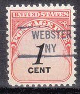 USA Precancel Vorausentwertung Preo, Locals New York, Webster 841 - Vereinigte Staaten