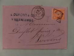 09.01.08_LAC De Valenciennes ...,variété Sur N°38 A Voir!! 1 Filet Absent Et 4 Touchant Cadre ,verso!! - Postmark Collection (Covers)