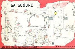 N°60586 -cpa Les Sept Pêchés Capitaux Du Soldat- La Luxure- - Humoristiques