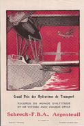 Aviation - Hydravions Schreck  F.B.A. Argenteuil - Publicités