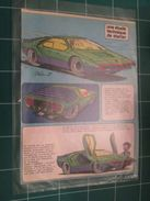 CLIP1116 : Rubrique STARTER Par JIDEHEM : LA CARABO BERTONE , 2 Feuilles 2 Pages Découpées Dans Une Revue Spirou Des Ann - Auto/Moto