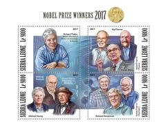 Sierra Leone 2017 Nobel Prize Winners Medicine Peace Chemistry Physics S/S SRL171107 - Unclassified