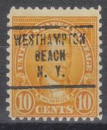 USA Precancel Vorausentwertung Preo, Locals New York, West Hampton Beach 642-707 - Vereinigte Staaten