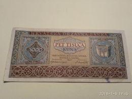 5000 Kuna 1943 - Croatie