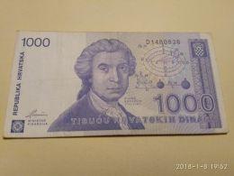 1000 Dinara 1991 - Croazia