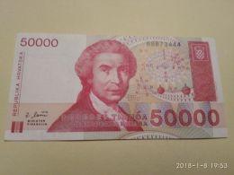 50000 Dinara 1993 - Croatie