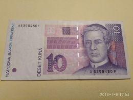 10 Kuna 1993 - Croatie