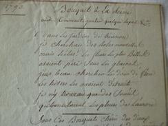 Chanson Poésie Manuscrit Bouquet à La Reine Royauté 1793 - Manuscrits