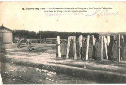 CPA N°17325 - LOT DE 2 CARTES DU CAMP DE COETQUIDAN - DESERTEURS + PRISONNIERS ALLEMANDS - MILITARIA 14-18 - Frankreich