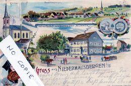 67 Bas-Rhin, Niederhausbergen, Gruss Litho Multivues, Dont Wirtschaft Zimmer - France