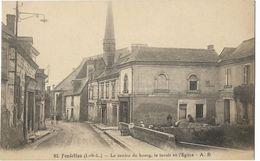 Fondettes - Le Centre Du Bourg, Le Lavoir Et L'Eglise - Fondettes