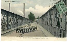 La Marne Pittoresque. 15 Neully-sur-Marne (S.et O.). Le Pont. Berger Et Ses Moutons - Neuilly Sur Marne