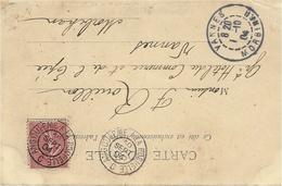 1904 - C P A  Affr. 10 C Semeuse Oblit. AMBULANT  ANGOULEME A LA ROCHELLE  C - Marcophilie (Lettres)