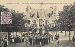 Fondettes - Réception à L'Hôtel De Ville Des Délégués Pour L'inauguration De La Gare (18 Août 1907) - Fondettes