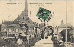 Fondettes - La Nouvelle Rue Le Jour De L'inauguration (18 Août 1907) - Fondettes