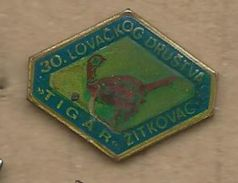 Hunting Society - Zitkovac. Serbia Birds - Badges