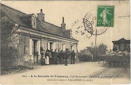 A La Descente Du Tramway, Café-Restaurant - TESSIER, Propriétaire Levée De La Loire à Vallières - Fondettes