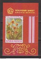 Indonesie Indonesia Blok Sheet Nr. 940 (B34) MNH ; Bloemen. Blumen, Flores, Fleurs, Flowers, Orchideen, Orchids 1978 - Orchideeën