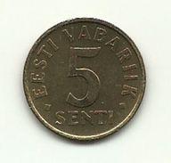1995 - Estonia 5 Senti, - Estonia