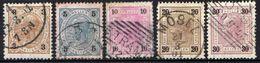 Österreich 1899 Mi 71-72; 74-75; 77 E, Zähnung 13 : 12 1/2, Gestempelt [090118XVIII] - Used Stamps
