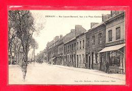 59-CPA DENAIN - RUE LAZARE-BERNARD - FACE A LA PLACE GAMBETTA - Denain