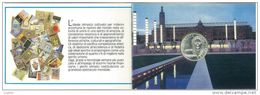 NUMISMATICA - XXV OLIMPIADE DI BARCELLONA EMISSIONE ANNO 1992 - L. 500 ARGENTO CONFEZIONE ZECCA - Commémoratives