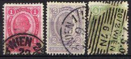 Österreich 1899 Mi 81-83 C, Zähnung 12 1/2, Gestempelt [090118XVIII] - Used Stamps