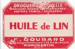 (Gll 8)  Publicités) Huile De Lin Romorantin 41 (Format 11 X 7.5 (Tap) - Publicités