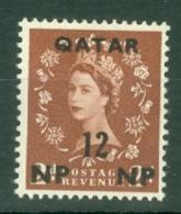 Qatar: 1960   QE II    SG23   12n.p. On 2d    MNH - Qatar