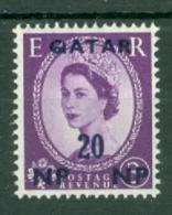 Qatar: 1960   QE II    SG25   20n.p. On 3d    MNH - Qatar