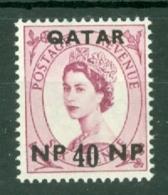 Qatar: 1960   QE II    SG26   40n.p. On 4d    MNH - Qatar