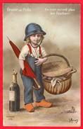 -- GRAINE DE POILU - ILS N'EN AURONT PLUS LES BOCHES ! Bouteille De Champagne -- - Patriotic