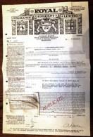 LOT 5 DOCUMENTS AUSTRALIE- MELBOURNE-ROYAL INSURANCE COMPANY DUPLICATA FRET PEAUX DE MOUTONS- 1934- 5 SCANS - Australia