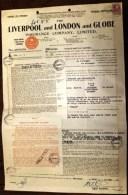 DOCUMENT AUSTRALIE : BRISBANE- LIVERPOOL AND LONDON AND GLOBE AVEC TIMBRE 1934- FRET PEAUX DE MOUTONS- 4 SCANS - Australia