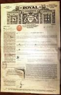 DOCUMENT AUSTRALIE : MELBOURNE-ROYAL INSURANCE COMPANY AVEC TIMBRE 1934- FRET PEAUX DE MOUTONS- 3 SCANS - Australie