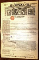 DOCUMENT AUSTRALIE : MELBOURNE-ROYAL INSURANCE COMPANY AVEC TIMBRE 1934- FRET PEAUX DE MOUTONS- 3 SCANS - Australia