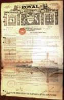 DOCUMENT AUSTRALIE : MELBOURNE-ROYAL INSURANCE COMPANY AVEC TIMBRE 1924- FRET PEAUX DE MOUTONS- 3 SCANS - Australia