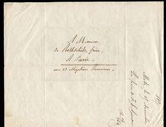 Lettre Sans Timbre De Novembre 1857 De METZ à Destination De Paris (De Rothschild Frères) - Marcofilie (Brieven)