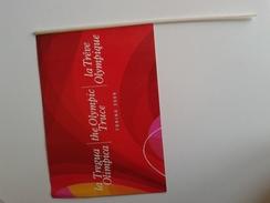 Alt1023 Bandiera Drapeau Tregua Olimpica Olympic Olympique Giochi Olimpici Winter Games Torino 2006 Olimpiadi - Abbigliamento, Souvenirs & Varie