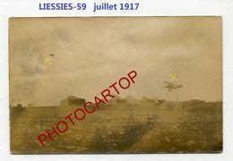 LIESSIES-Terrain D'Aviation Allemand-Juillet 1917-AVIONS-CARTE PHOTO Allemande-Guerre 14-18-1 WK-France-59- - Fourmies