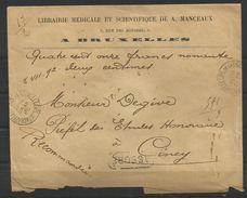 1893/1900 - N° 63 Oblitéré (o) Seul Sur Lettre RECOMMANDEE/ASSUREE - Obl. BRUXELLES (R. De La Chapelle) - 28/02/1902 - 1893-1900 Thin Beard
