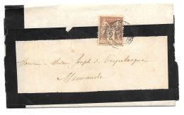 SUR BANDE PLI..   N° 85 .Type IIa.. SUR AVIS D'OBSEQUE..QUI N'EST PAS A L'INTERIEUR....DE TONNEINS à MARMANDE.1883..BE. - Journaux