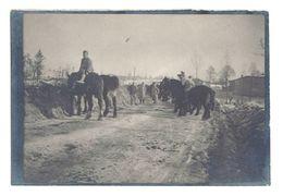 Petite Photo Guerre, WW1, Souvenir D'Argonne 1917, Abreuvoir ( Chevaux, Soldats ) - Guerre, Militaire