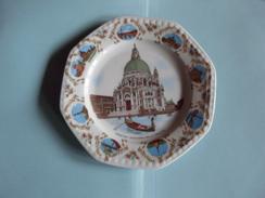 Assiette Porcelaine Italie Venise Venezia La Madonne Della Salute - Ceramics & Pottery